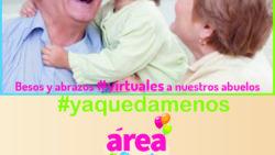 Hoy abrazos y besos virtuales a nuestros abuelos
